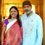 Jagapati Babu with his wife Lakshmi
