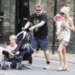 James Corden with his wife and children