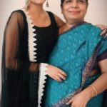 Janani Iyer with her mother