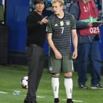 Julian Brandt with his coach Joachim Löw