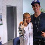 Kylian Mbappé With Cristiano Ronaldo
