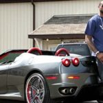 LeBron James with Ferrari F430 Spider