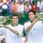 Leander Paes and Mahesh Bhupathi winning Wimbledon 1999