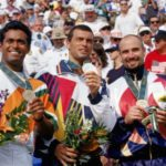 Leander Paes winning Bronze Medal at Atlanta Olympics 1996
