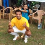 Leander Paes with his Daughter