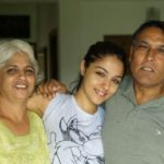 Lekha Washington With Her Parents
