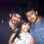 Mahat Raghavendra with Dhayanidhi Alagiri and his (Dhayanidhi) wife