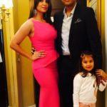 Mahesh Bhupathi with wife Lara Dutta and daughter Saira