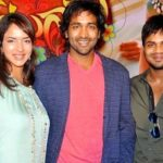 Manchu Vishnu with his brother Manchu Manoj and sister Lakshmi Manchu