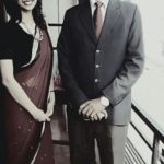 Meenakshi Chaudhary With Her Father