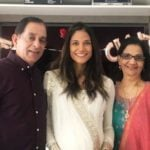 Melanie Chandra With Her Parents