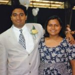 Mindy Kaling with her brother