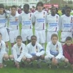 Nabil Fekir in the Youth Academy of Lyon with his teammates