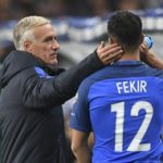 Nabil Fekir with his coach Didier Deschamps