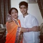 Naveen Sharma with his mother
