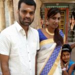 Nithya Balaji with her husband and daughter