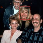 Pamela Anderson with her parents and brother