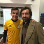 Paulo Dybala with Andrea Pirlo