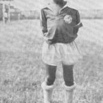 Pele in his childhood playing football