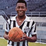 Pele playing for Santos