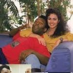 Pele with his ex-girlfriend Flavia Cavalcanti Rebelo