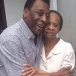 Pele with his mother