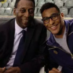 Pele with his son Joshua