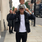 Philippe Coutinho with his daughter