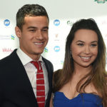 Philippe Coutinho with his wife