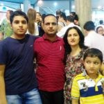 Pranav Goyal with his parents and brother
