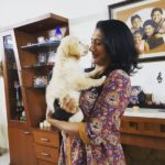RJ Vaishnavi Playing With Her Pet