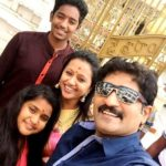 Rajiv Kanakala with his wife Suma Kanakala and children