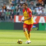 Raphael Varane playing for RC Lens