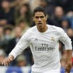 Raphael Varane playing for Real Madrid