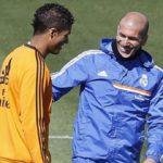 Raphael Varane with Zidane