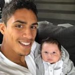 Raphael Varane with his son