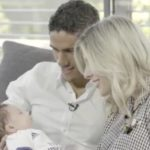 Raphael Varane with his wife and son