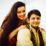 Renu Desai with her brother