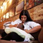 Reshma Saujani Feeding Her Son