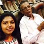 Riythvika with her father