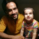 Rohit Choudhary with his daughter
