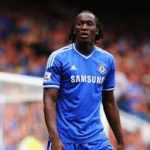 Romelu Lukaku playing for Chelsea