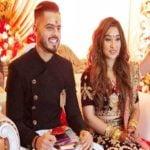 Nitish Rana and Saachi Marwah engagement photo
