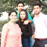 Saachi Marwah with her siblings