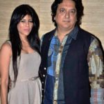 Sajid Nadiadwala with his second wife Warda Khan Nadiadwala