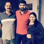 Samrat Reddy with his parents