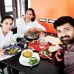 Samrat Reddy with his sisters