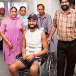 Sandeep Singh On Wheelchair
