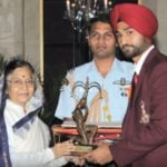 Sandeep Singh With Arjuna Award