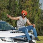 Sandeep Singh With His Fortuner Car